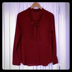 Zara blouse with bow